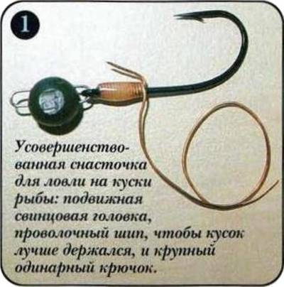 снасточки для ловли на мертвую рыбку и снасточка крючкова